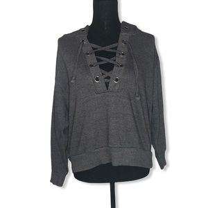 Ocean Drive Gray Lace Front Hoodie S